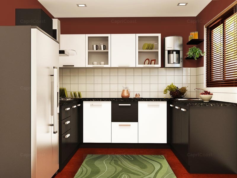 U shape kitchen dyhome for Kichan farnichar design